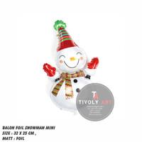 Balon Foil Christmas / Balon Foil Christmas Snowman MINI