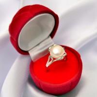 Pearl Ring Korea, Silver Emas Putih ASLI, PRING 013 (Garansi 6 bulan)