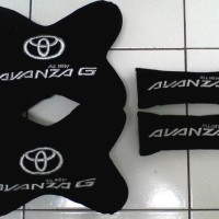 Car Set, seat. Bantal mobil 2 in 1 Toyota All New Avanza G