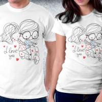 Baju kaos couple valentine - Vespa Tour