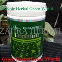 TERBARU LECITHIN SOFTGEL GREEN WORLD ORIGINAL MURAH ( ISI 100 SOFTGEL