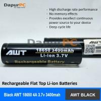 Battery AWT Black 3400 mAh 18650 | Batery Vapor Rokok Elektrik Hitam