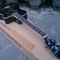 Gitar Akustik Elektrik Black Glossy dan Doff