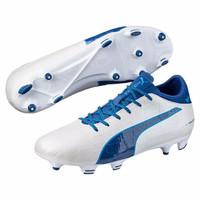 Sepatu bola puma original soccer Evotouch 3 FG white/blue murah