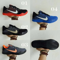 New Sepatu Basket Nike kobe 11 mentality hitam merah ringan anti licin