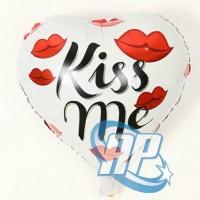 balon foil hati kissme / balon foil love / balon hati balon love