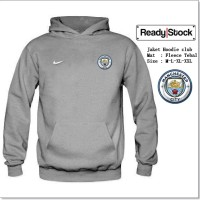 Jaket hoodie manchester city abu
