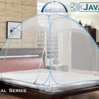 Kelambu Javan Bed Canopy - Natural King ukuran 180x200cm