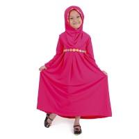 Baju Muslim Gamis Anak Perempuan Pink Lucu Simple Murah