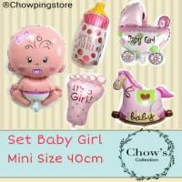 BAlon Foil Set Baby Girl size Mini