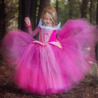 Baju Anak Dress Kostum Princess Aurora Pink