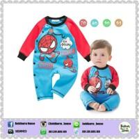 BABY SPIDERMAN BLUE ROMPER