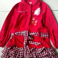 Baju Dress Terusan Anak Perempuan SanrioKid 6tahun cocok Musim Dingin