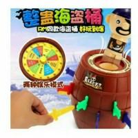pirate roulette barrel mainan anak tong bajak laut seru