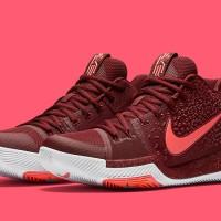 Sepatu Basket Nike Kyrie Irving 3 - Warning Team Red Hot Punch