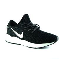 Sepatu sport nike free running casual Yeezy Man Black white