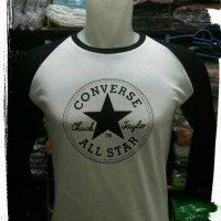 KAOS RAGLAN LENGAN 3/4 CONVERS ALL STAR/T-SHIRT CONVERS