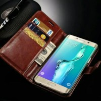 Samsung Galaxy S6 Edge + Flip Pu Leather Wallet Case Cellphone Cover