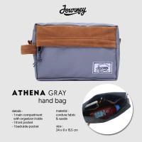 Tas Kecil Pouch Hand Bag Multifungsi Kosmetik HP - Journey Athena Grey