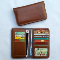 Samsung Galaxy S6 Edge + Flip Pu Leather Wallet Case 100 % KULIT SAPI