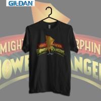 Geek - Power Rangers Logo Vol.2 Kaos Geek Printed in Gildan Shirt