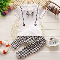 BC1505 Rolan White Set Baju setelan anak lelaki import