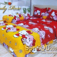 Bad Cover Set LADY ROSE King Red / Bed Cover hello Kitty 180x200