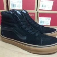 Sepatu Vans SK8 Tinggi Black Sol Gum