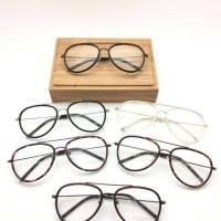 Paket Kacamata OLIVER PEOPLE AVIATOR + Lensa Minus Antiradiasi