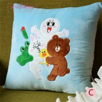 Line Friends Brown Cony Moon Sally Character Pillow