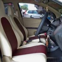 Sarung Jok Kulit Mobil Bahan Cherokee khusus Mobil Agya / Ayla 2 Baris