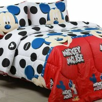 bedcover + sprei mickey mouse uk 160x200