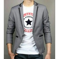 Blazer GGS Grey Line Black Premium, Jas Blazer Aliyando Abu