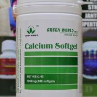 CALCIUM SOFTGEL GREEN WORLD/ OBAT OSTEOPOROSIS/ PENGEROPOSAN TULANG
