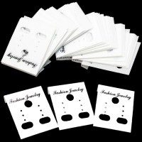 CARD ANTING + PLASTIK isi 100 PUTIH ( display aksesoris grosir murah )
