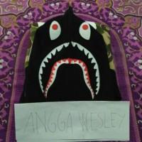 Bape X Puma Hoodie Camo Shark