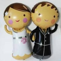 Balon Foil Pengantin / Bride & Groom Lucu