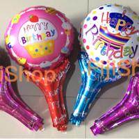 Balon Foil Pentung/Tongkat/Tenis model HappyBirthday