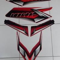 Stiker RX king 2008 merah hitam