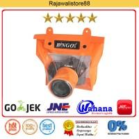 Bingo Waterproof Case For DSLR Camera - Orange - Fit Canon/Nikon/Sony