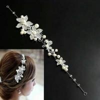 sirkam rambut flower headband pengantin hiasan konde sanggul