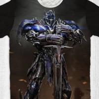 Baju Kaos Anak & Dewasa Transformers - Optimus Prime Knight Stand