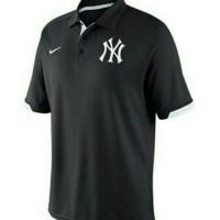 Polo shirt BIG SIZE XXXL-XXXXL YANKES BLACK NIKE