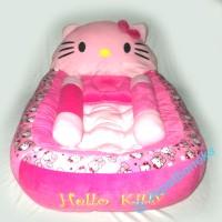 Kasur bayi karakter hello kitty polkadot + bantal guling