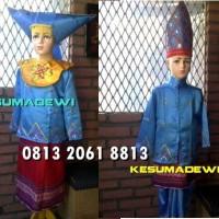 Minangkabau Couple SD 4-6  Baju Adat Kostum Karnaval Pentas Seni Anak