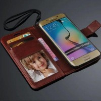 Flip Case Wallet Leather Card Book Cover Casing Samsung Galaxy S6 Edge