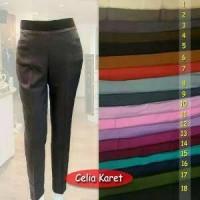 celana kerja wanita merk CELIA celana bahan pinggang karet