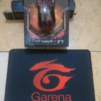Paket Mouse Mousepad Garena X7 F7 A4tech 3000dpi Optical Macro Gaming