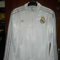 Jaket Real Madrid Anthem White Official 2015-2016