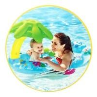 intex My Baby & Mom Float Kanopi First Swim Ban Pelampung Renang Duduk